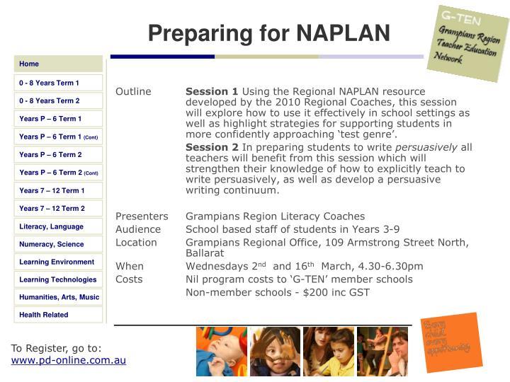 Preparing for NAPLAN