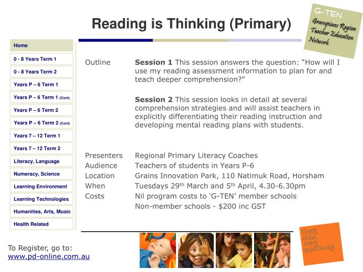 Reading is Thinking (Primary)