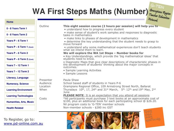 WA First Steps Maths (Number)