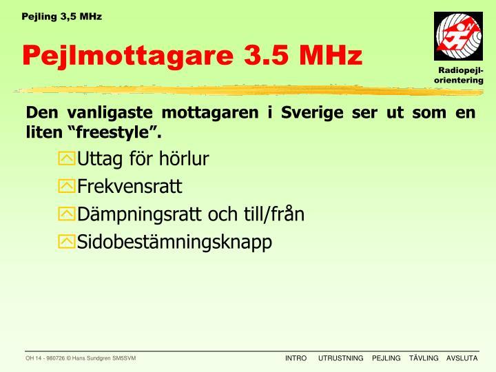 Pejling 3,5 MHz