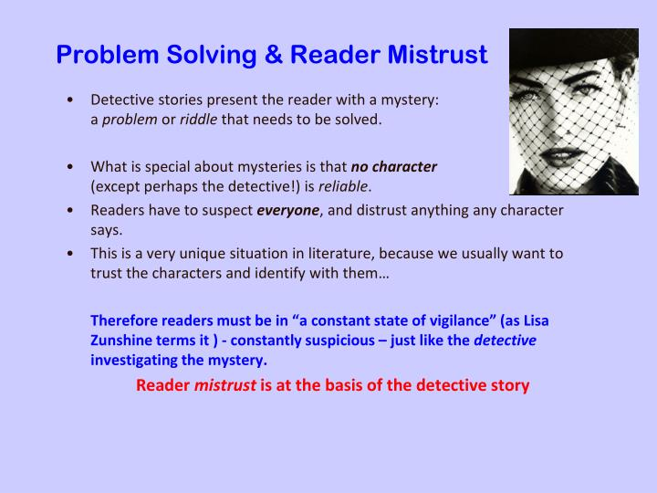 Problem solving reader mistrust