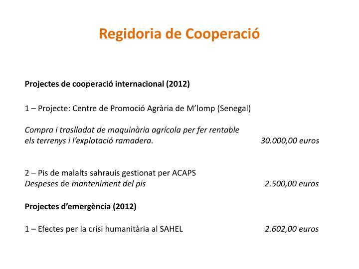 Regidoria de Cooperació