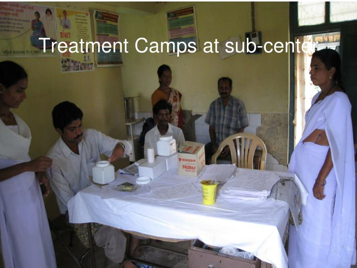 Treatment Camps at sub-center