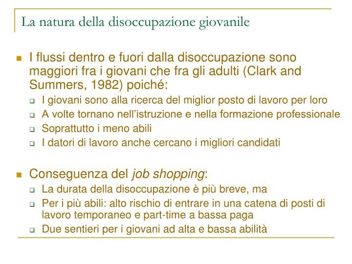 La natura della disoccupazione giovanile