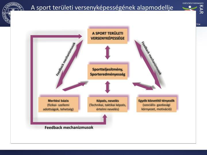 A sport területi versenyképességének alapmodellje