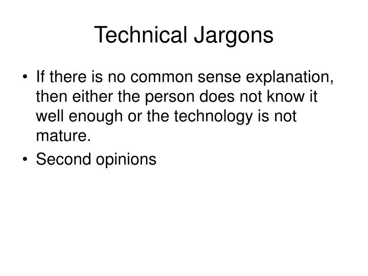 Technical Jargons