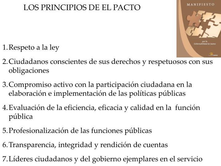 LOS PRINCIPIOS DE EL PACTO