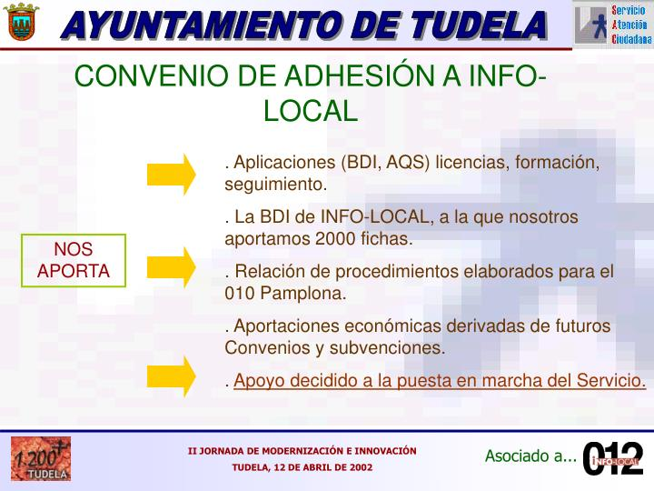 CONVENIO DE ADHESIÓN A INFO-LOCAL
