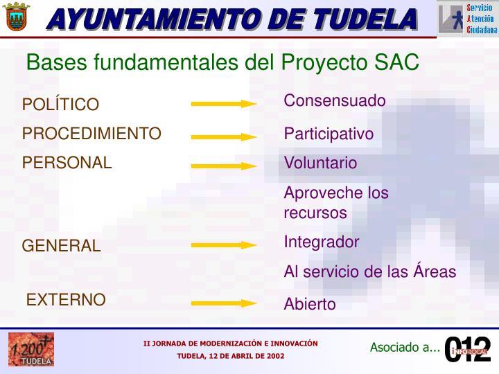 Bases fundamentales del Proyecto SAC