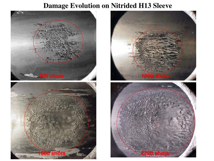 Damage Evolution on Nitrided H13 Sleeve