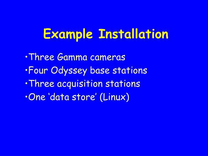 Example Installation