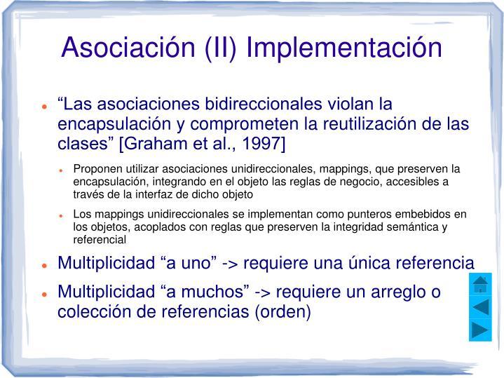Asociación (II) Implementación