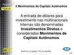 6 movimentos de capitais aut nomos