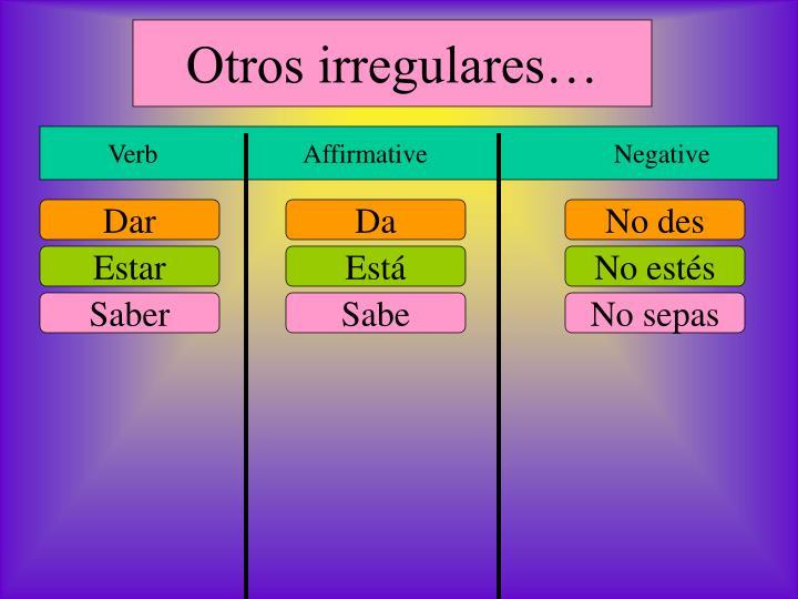 Otros irregulares…