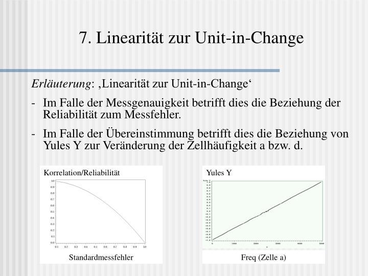 7. Linearität zur Unit-in-Change