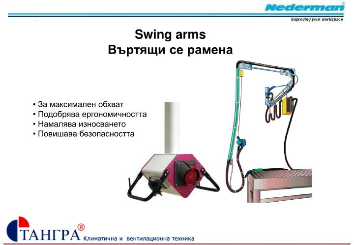 Swing arms