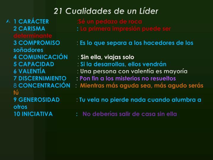 21 Cualidades de un Líder
