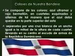 colores de nuestra bandera
