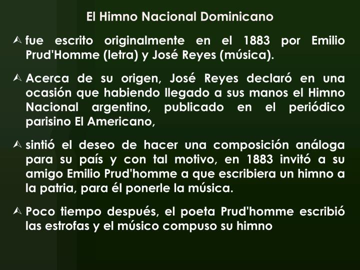 El Himno Nacional Dominicano