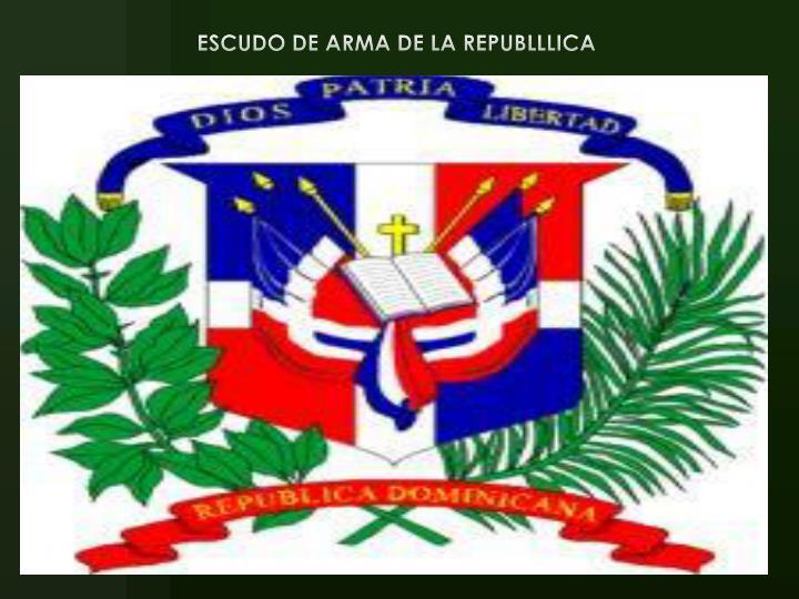 ESCUDO DE ARMA DE LA REPUBLLLICA