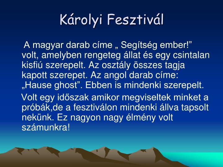 Krolyi Fesztivl