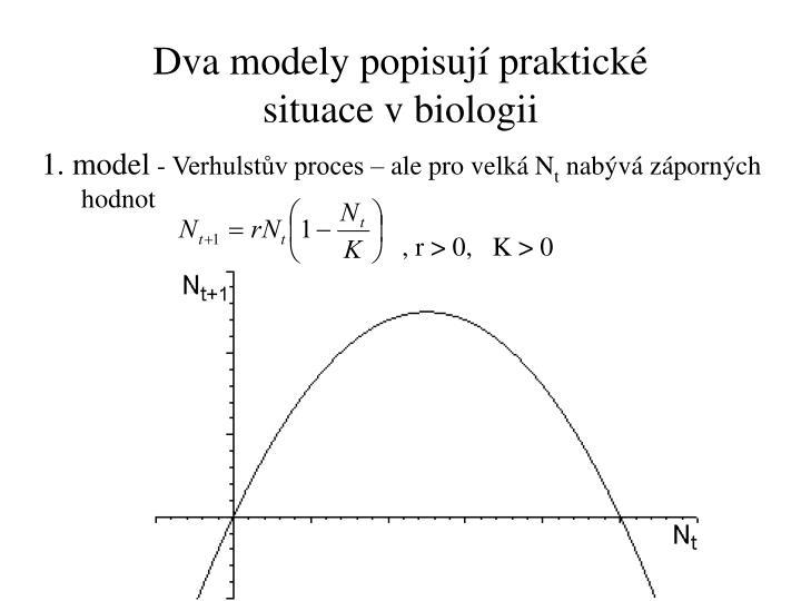 Dva modely popisují praktické situace vbiologii