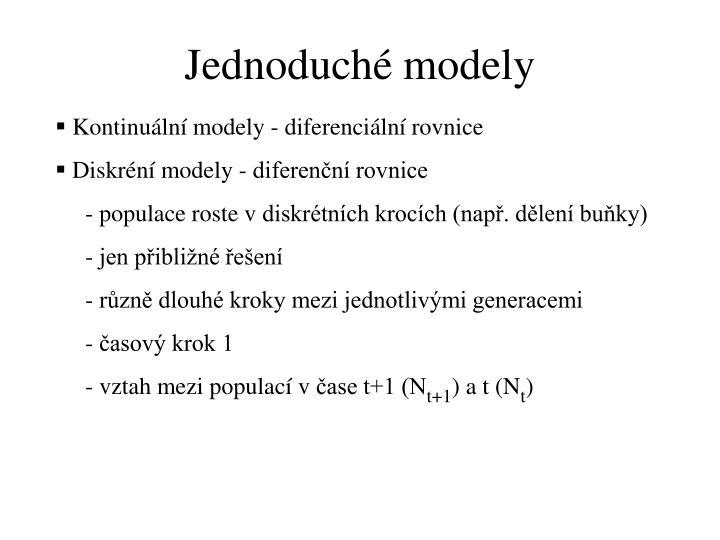 Jednoduché modely