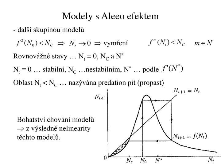 Modely s Aleeo efektem