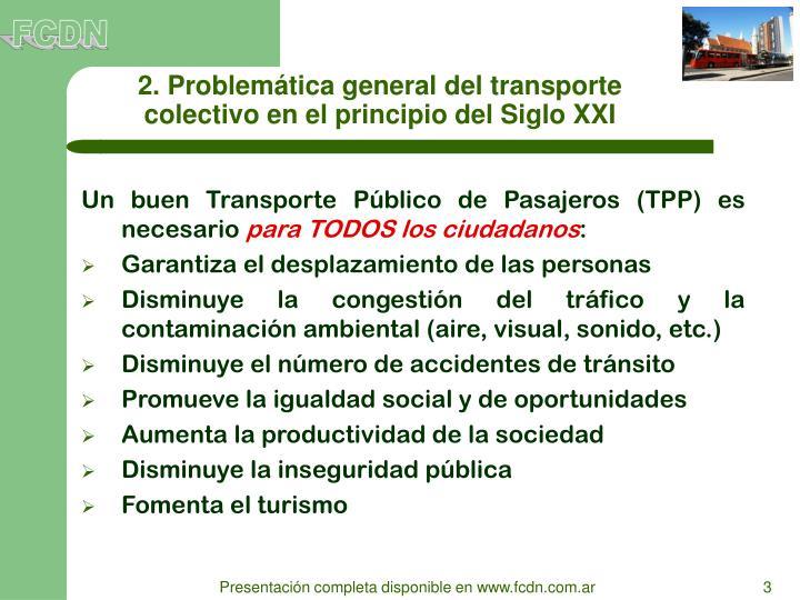 2. Problemática general del transporte