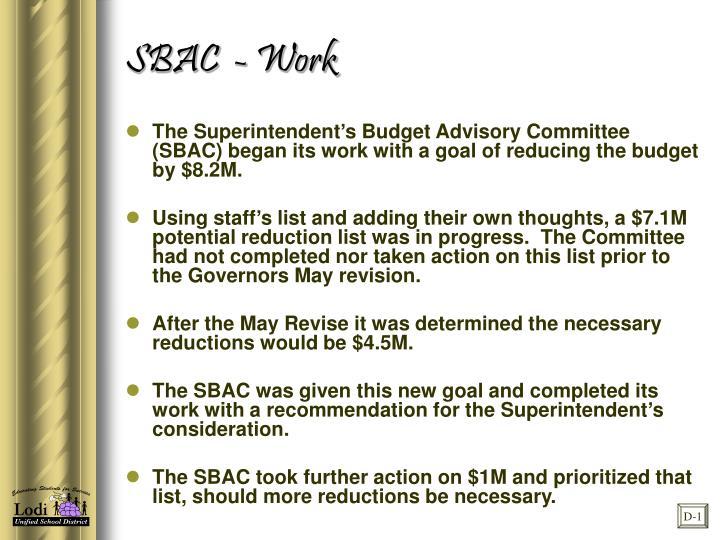 SBAC  - Work