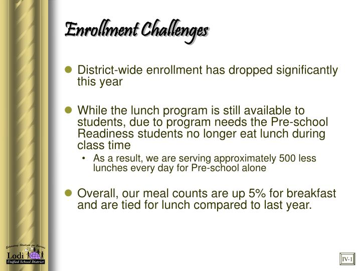 Enrollment Challenges
