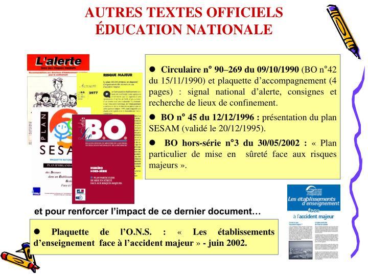 AUTRES TEXTES OFFICIELS