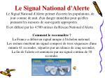 le signal national d alerte