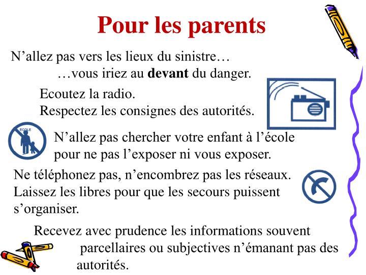 Pour les parents