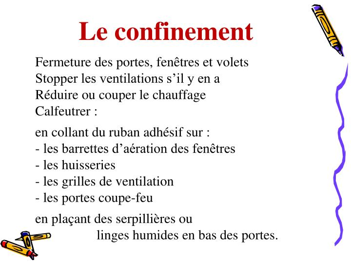 Le confinement