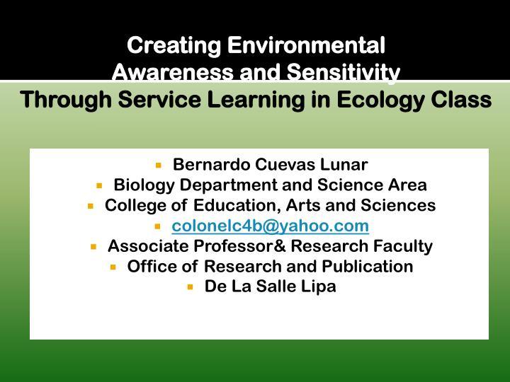 Creating Environmental