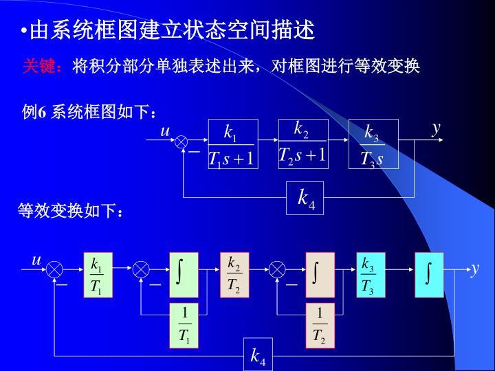 由系统框图建立状态空间描述