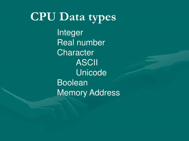 CPU Data types