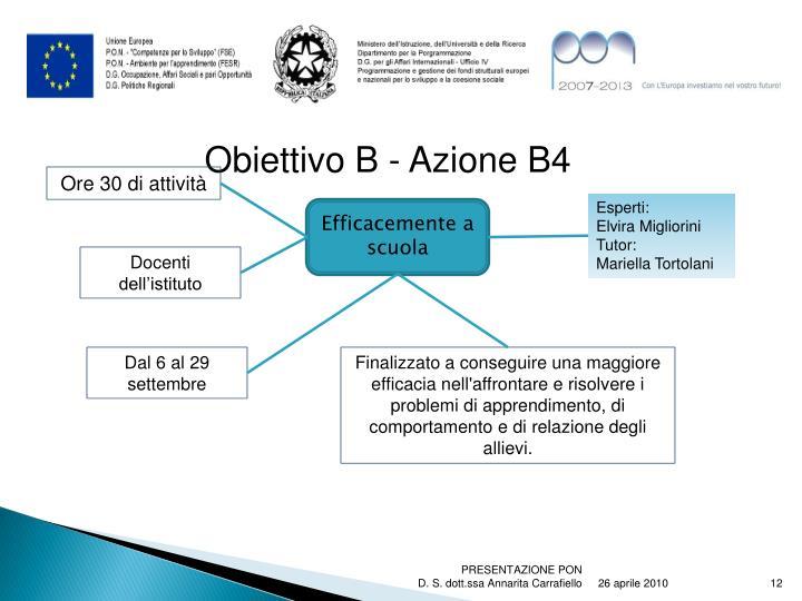 Obiettivo B - Azione B4