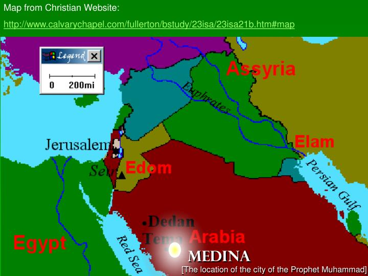 Map from Christian Website: