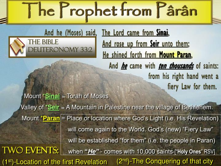 The Prophet from Pârân