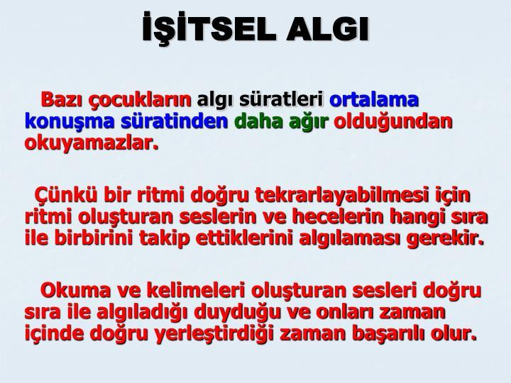 İŞİTSEL ALGI