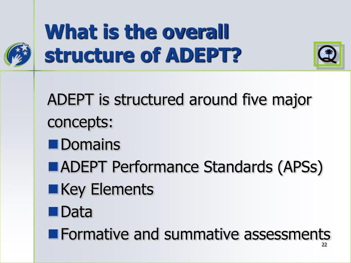 What is the overall structure of ADEPT?