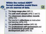 within the revised adept formal evaluation model there are six sources of data