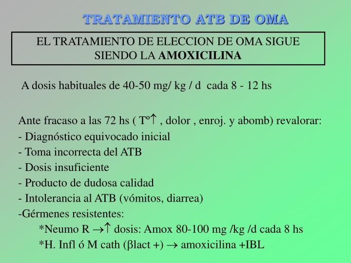 TRATAMIENTO ATB DE OMA