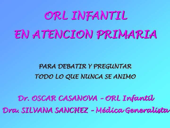 ORL INFANTIL
