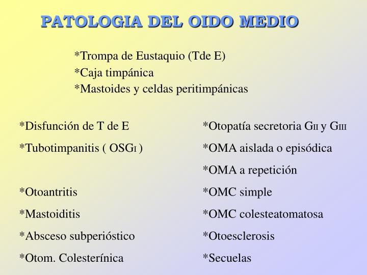 PATOLOGIA DEL OIDO MEDIO
