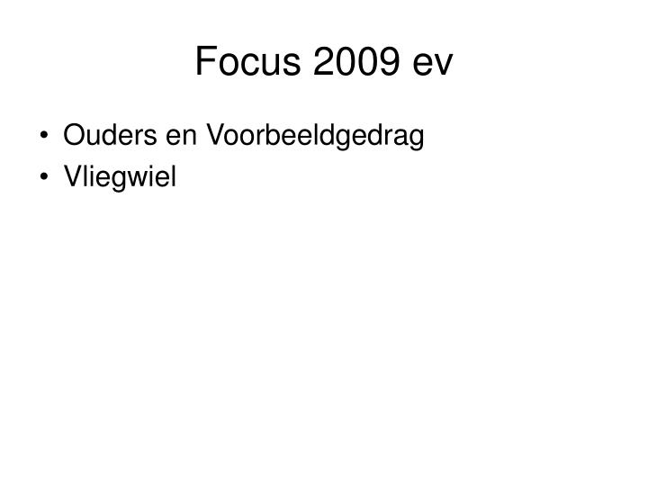Focus 2009 ev