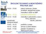 kolen technik a mont n k pro rok 20073