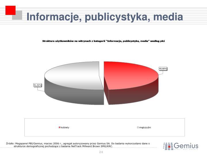Informacje, publicystyka, media